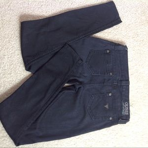 GUESS POWER SKINNY BLACK JEANS